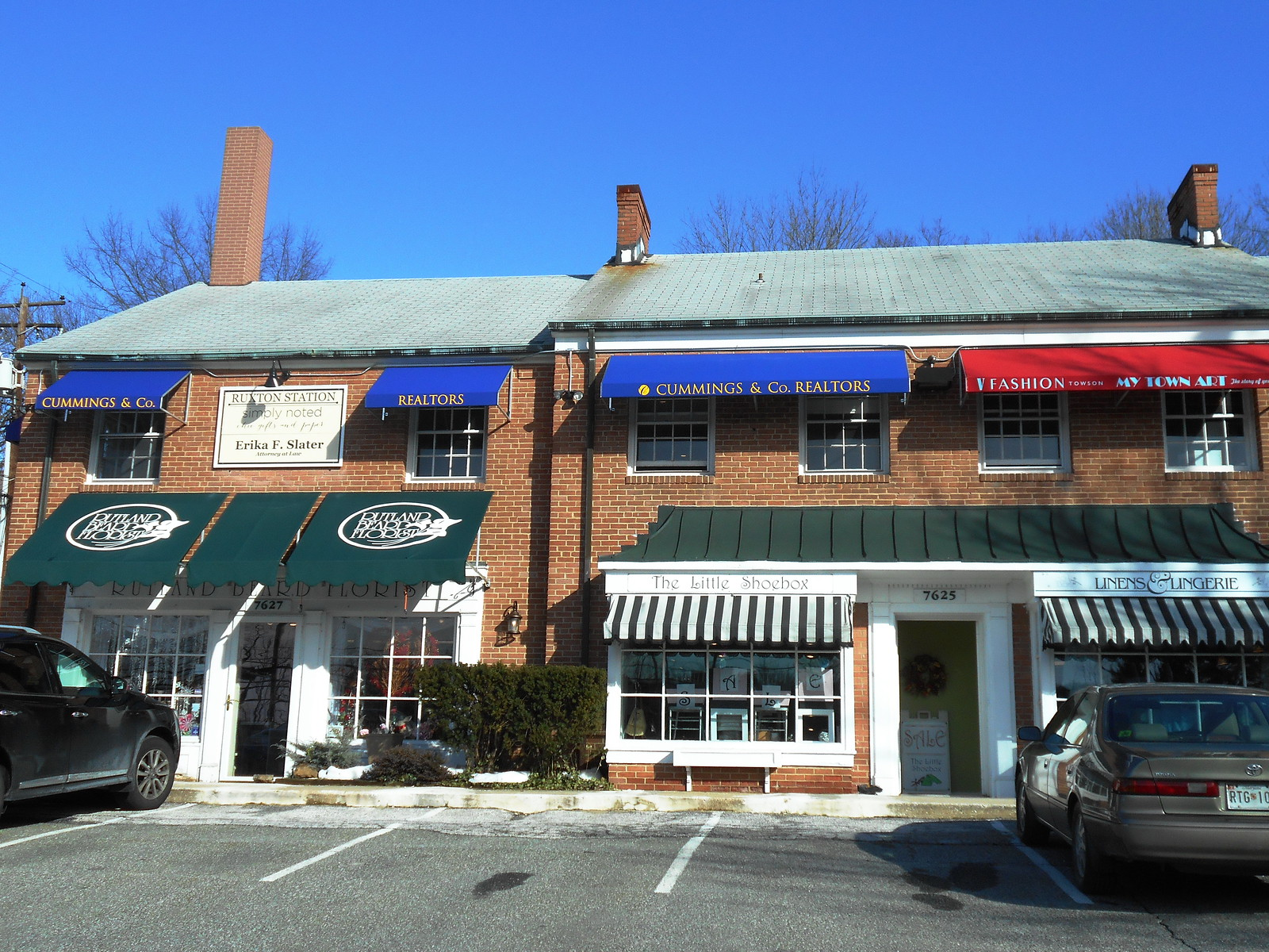 Retail Store Front Awnings Baltimore