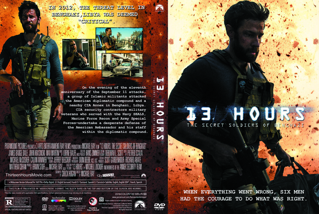 Dvd Covers 13 Hours The Secret Soldiers Of Benghazi 65765