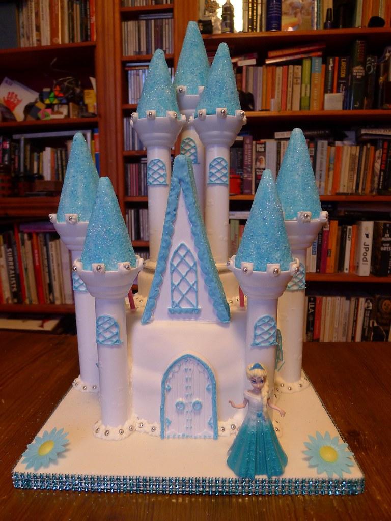 Tremendous Elsas Frozen Castle 5Th Birthday Cake Brazen J Flickr Funny Birthday Cards Online Aeocydamsfinfo
