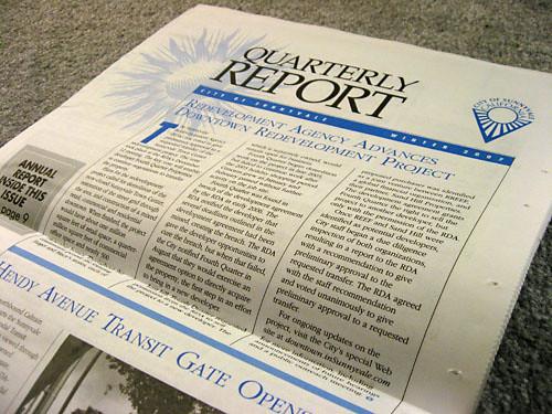 Sunnyvale Quarterly Report