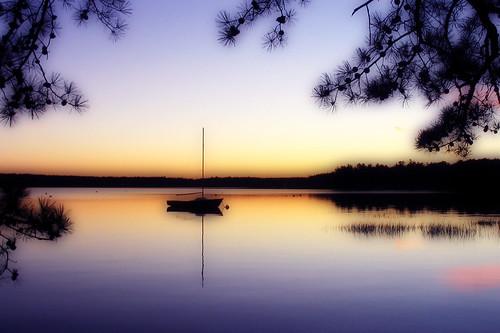 sunset photoshop boat nh orton