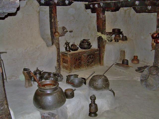 Kitchen of the Baltit Fort, Pakistan - June 2006