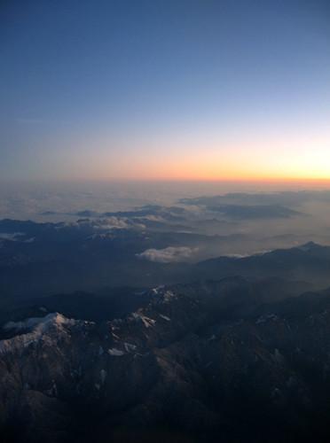 sunset mountains clouds taiwan aerialphoto