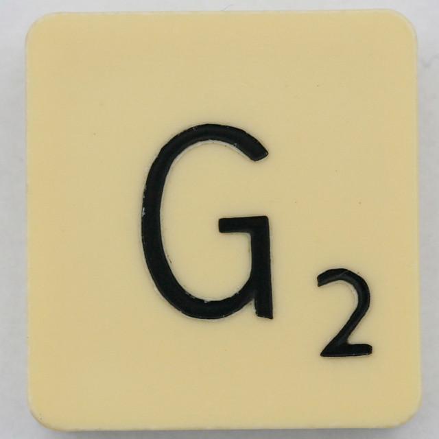 Scrabble Letter G