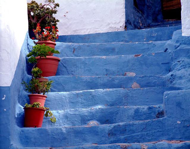 The Blue steps, Velez de Benadaulla, Andalucia