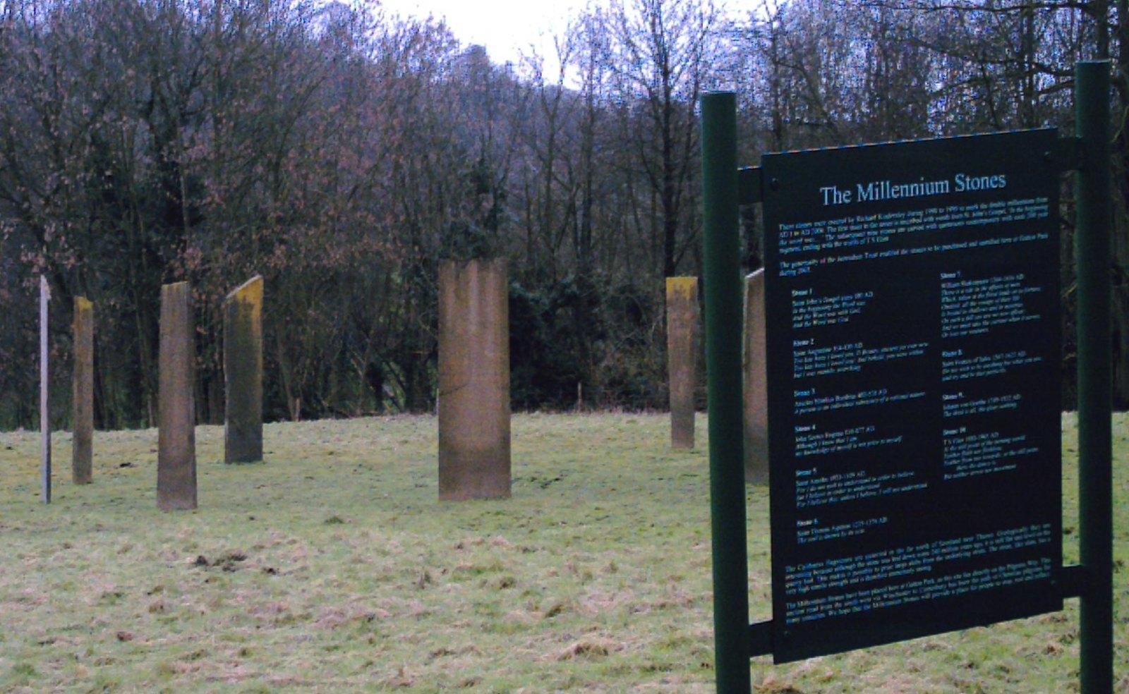 Millenium Stones Somewhere on the Merstham to Epsom walk. D.Allen Vivitar Vivicam 5199 24 Feb 2007