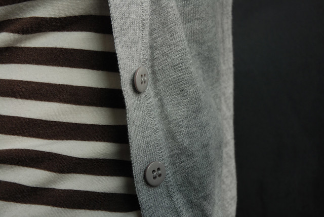 stripes and cardigan