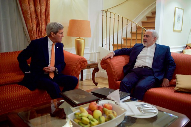 Secretary Kerry Sits With Iranian Foreign Minister Zarif Before Meeting in Austria About Country