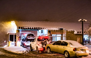 Impound Lot Arrivals - Tow Trucks at City of Minneapolis Impound Lot - Snow Emergency | by Tony Webster