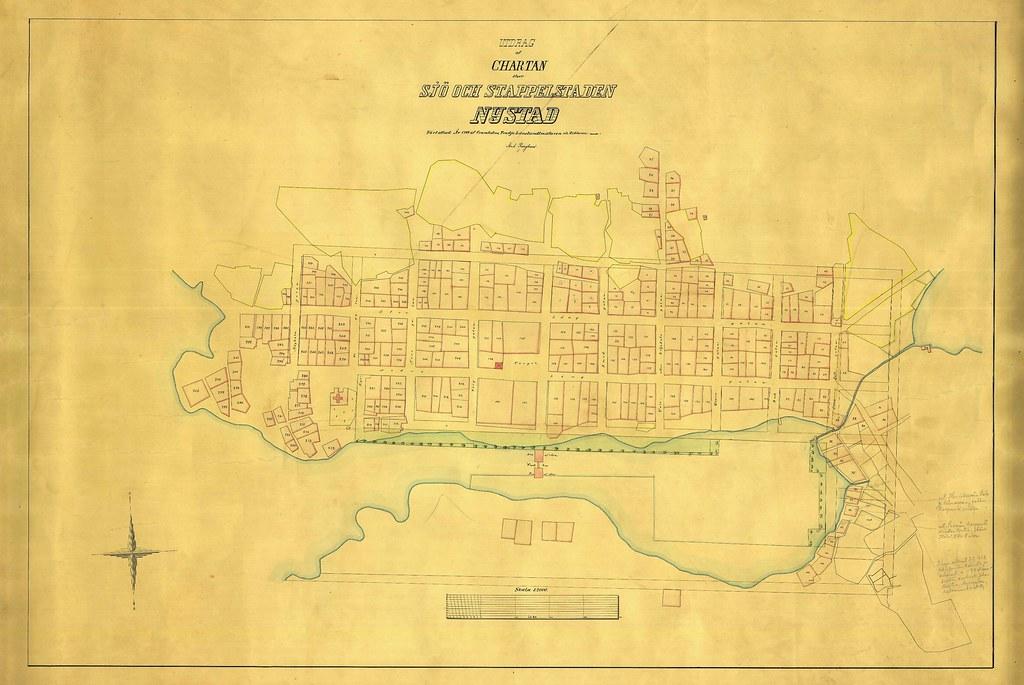 Kartta Jonka Pohjalla 1799 Tehty Mittaus Museo Uusikaupunki