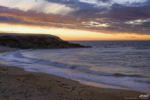 sunset beach colors clouds sand waves atlantic