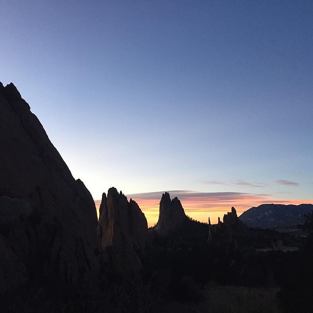 At #GardenoftheGods for some early morning writing. #Sunrise #Colorado #JLZenor / on Instagram https://www.instagram.com/p/BB7n6zOMmol/