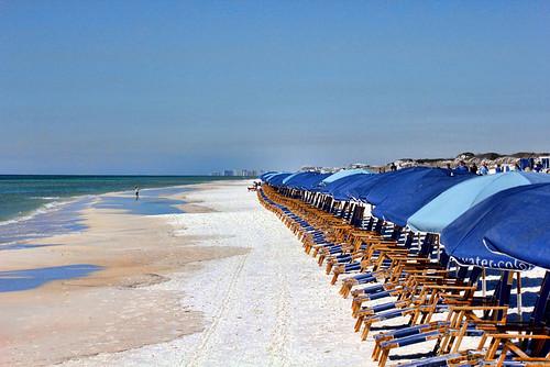 beach watercolor chairs florida umbrellas