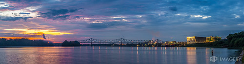 ohioriver sunrise waterfront pano riverfront bluebridge ky owensboro panorama kentucky englishpark downtown usa