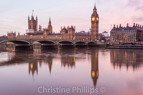 pink houses london beautiful westminster sunrise reflections quiet peace phillips peaceful parliament christine calm hues