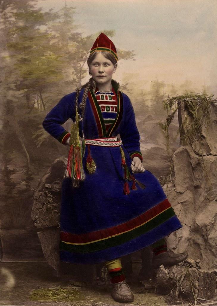 bäst älskade separationsskor första kurs Sami Woman, Sweden 1870-1898. Kvinna iklädd samisk dräkt. … | Flickr