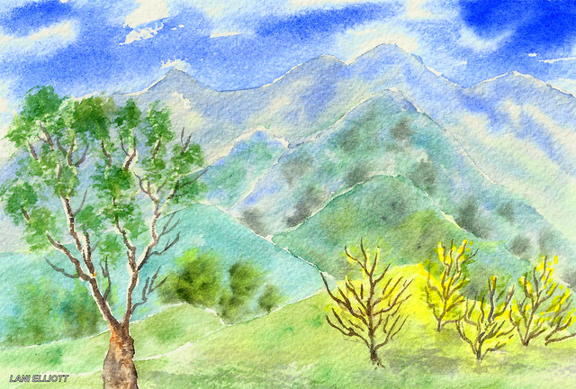 Mudgee Landscape - New South Wales - Watercolour