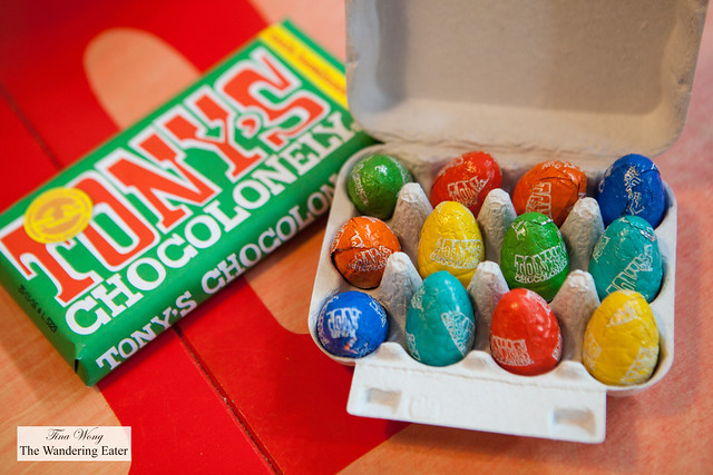 Tony's Chocolonely chocolate bar and Easter egg collection