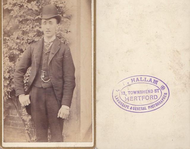 CDV Portrait of a Gentleman by Hallam of Hertford