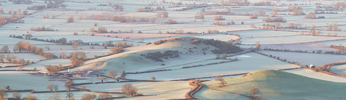 cold frost ice frosty icy winter dawn morning somerset deerleap mendips somersetlevels weather farmland agriculture landscape panorama patterns trees shadows light gettyimages chalcrofthill devilsbedstead