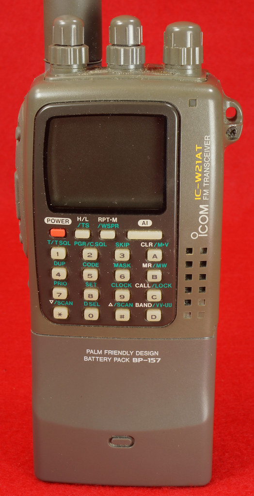 SOLD - ICOM FM Transceiver IC-W21AT, BP-157 Battery, FA-B270A
