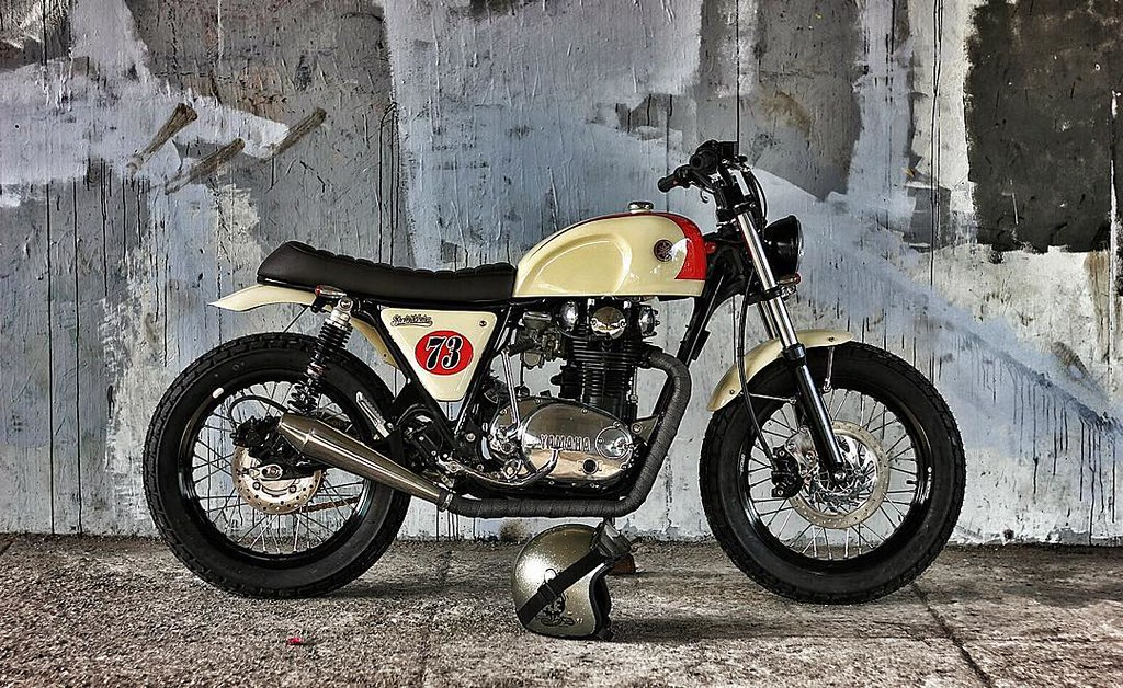 A coolest modified #yamaha #xs650 by @studio_motor #coolmo