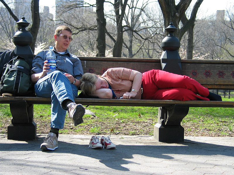 Resting in Central Park