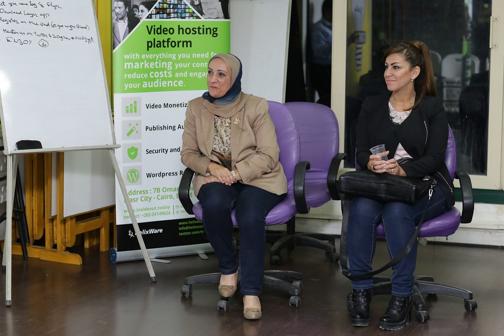The Panelists Dr. Amany Bassiouny and Dina AbdelKarim #OCCEgypt Meetup