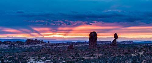 sunset landscape utah workshop moab archesnationalpark balancedrock