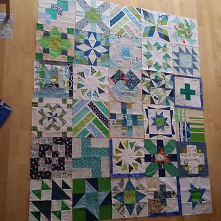 And that means I have enough blocks now for the centre #ufo #lazybums #sewmystash2016
