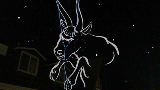 Last night in Wrightwood captured this constellation view using Skyview app.
