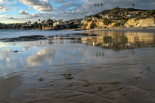 ocean california longexposure sky cliff seascape reflection beach clouds reflections geotagged sand nikon unitedstates cliffs pacificocean lowtide hdr lagunabeach nikond5300