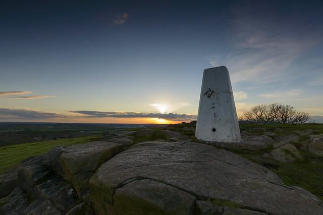 Winter Sunset, Croft Hill