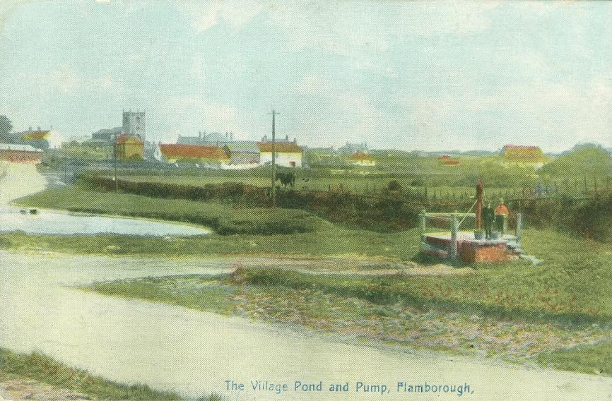 Flamborough Pond & Pump 1906 (archive ref PO-1-50-44)