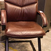 Wine leather meeting chair
