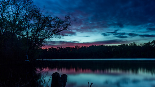 longexposure trees light sky sun lake reflection nature water colors clouds sunrise river dark landscape us nc scenery unitedstates northcarolina mtholly mountholly gastoncounty