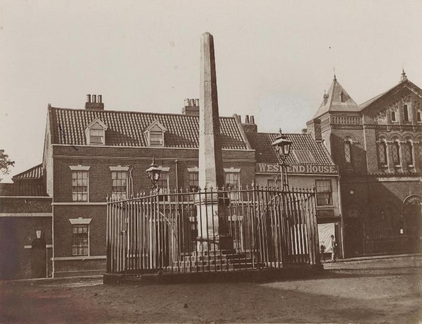 The Obelisk, Wednesday Market, Beverley 1870 (archive ref PH-4-7)