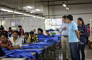On February 19, 2016, Ambassador Heidt visited Cambodian Textiles Worldwide (CTW) in Phnom Penh. | by USEmbassyPhnomPenh