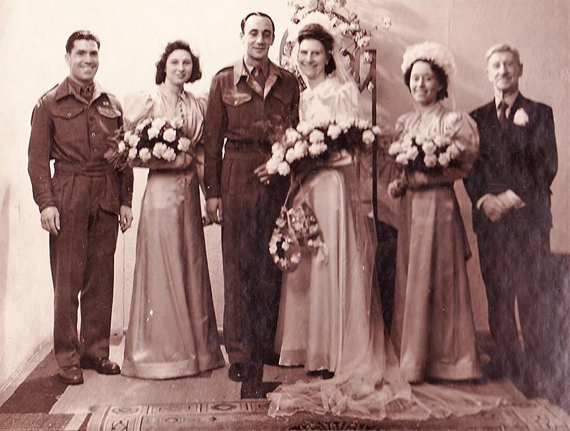 Wedding mum and dad 11.07.1945