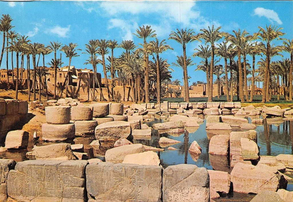 Memphis, Egypt - Ruins of the great Ptah-Temple Old Empire… | Flickr
