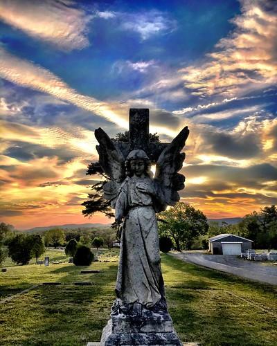 sun cemetery graveyard angel virginia roanoke angels va