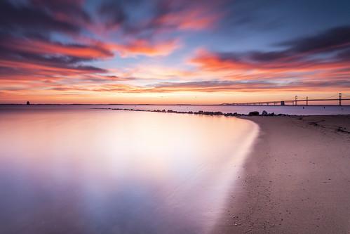 longexposure beach sunrise colorful jetty baybridge sundaymorning chesapeakebay emptyspaces sandypoint flickrfriday leefilters singhrayfilters darylbensonrgnd littlestopper