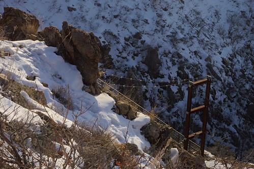 bridge foothills landscape wasatch canyon suspensionbridge draper saltlakevalley lonepeak wasatchmountains bearcanyon bonnevilleshorelinetrail lebarodea trailoftheeagle bearcanyonsuspensionbridge