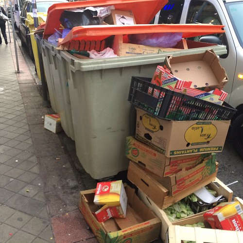 Waste picking in Madrid
