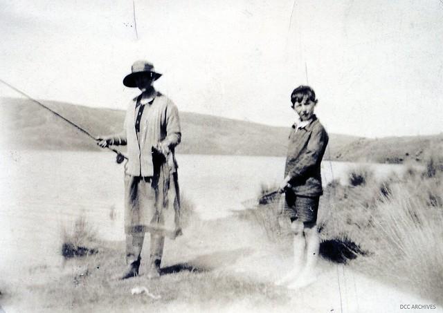 Mrs Dick Cotton and son, Waipori