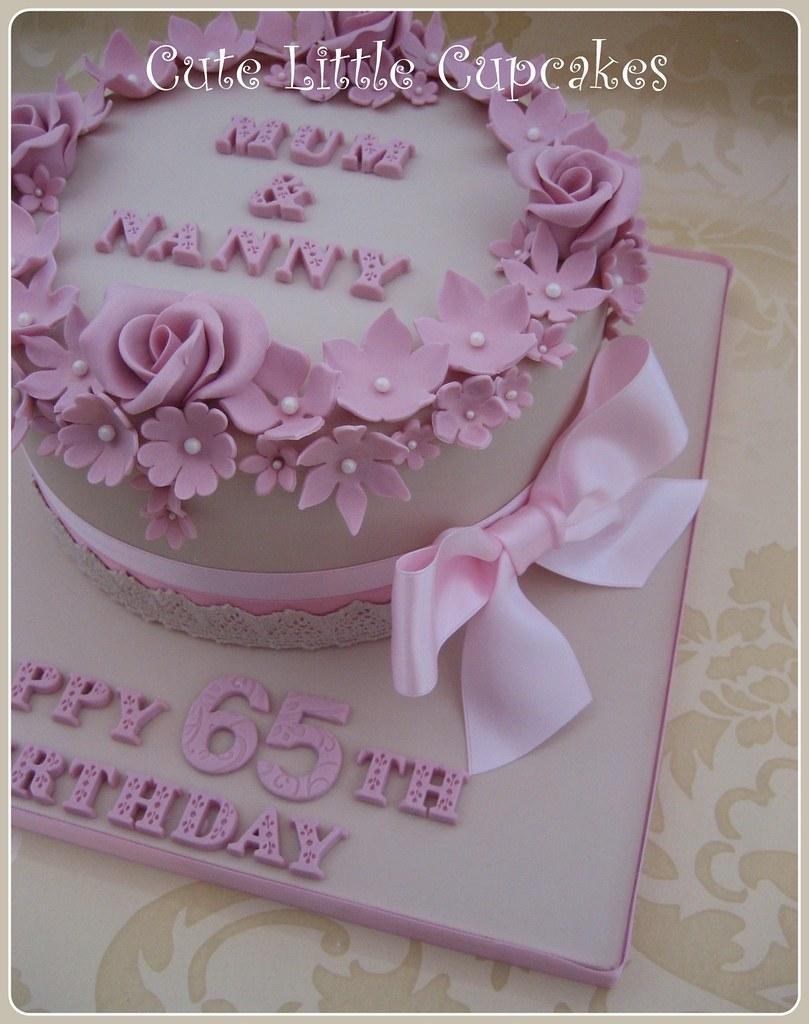 Brilliant Shabby Chic 65Th Birthday Cake Heidi Stone Flickr Personalised Birthday Cards Vishlily Jamesorg