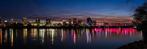 sunset panorama us unitedstates littlerock arkansas rivermarket arkansasriver dogwood52 dogwoodweek8