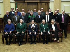 Greenwood FC with Cork Lord Mayor for 40th celebrations
