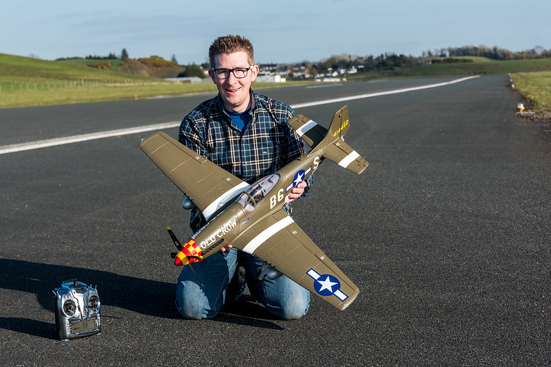 Posing with my Mustang P51D.