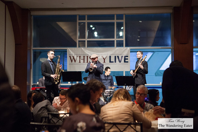 Live blues band playing while dining